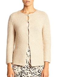 Pauw Metallic Textured Cardigan Blush