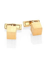 Burberry Check Cube Cuff Links Gold