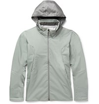 Descente S.I.O Slim Fit Waterproof Shell Jacket Gray Green