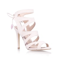 Miss Kg Frenchy High Heel Strappy Lace Up Shoe Nude