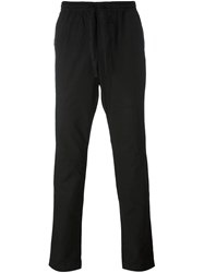 Tomas Maier Waist Drawstring Tapered Trousers Black