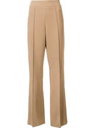 Victor Alfaro Bootcut Trousers Nude And Neutrals