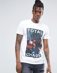 Hype T Shirt With Flroal Statement White
