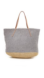 Hat Attack Twisted Colorblock Tote Grey