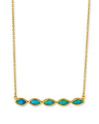 Gurhan Marquis Opal Bar Necklace In 24K Gold