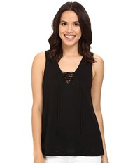 Sanctuary Serene Laced Tank Top Black Women's Sleeveless