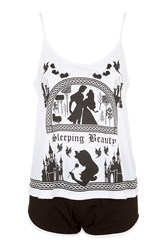 Topshop Sleeping Beauty Cami And Shorts Monochrome