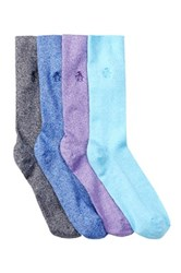 Original Penguin Solid Socks Pack Of 4 Multi