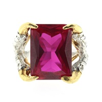 Tessa Metcalfe Claws Of Engagement Ring Ruby Silver Red