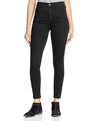 Free People Cyndi High Rise Skinny Jeans In Black