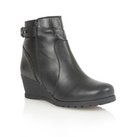 Lotus Shard Ankle Boots Black