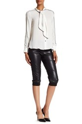 Atm Anthony Thomas Melillo Crop Stretch Leather Track Pant Black