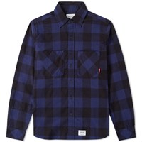 Fuct Ssdd Plaid Flannel Shirt Blue