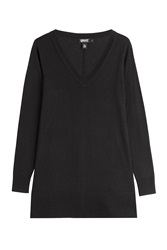 Dkny Wool Blend Trapeze Pullover Black