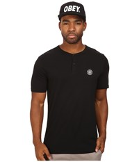 Obey Mission Henley Black Men's Clothing