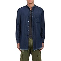 Nsf Men's Dune Cotton Shirt Blue