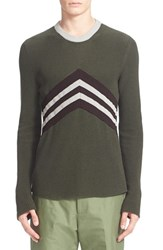 Men's Umit Benan 'Dytona' Chevron Cotton Pullover