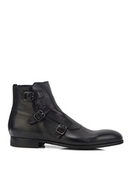 Alexander Mcqueen Buckled Washed Leather Boots