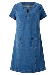 East Pocket Detail Denim Dress Indigo