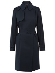 Warehouse Clean Belted Trench Coat Navy