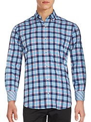 Tailorbyrd Checkered Long Sleeve Shirt Navy