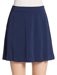 Vince Pleated Mini Skirt Marine Blue