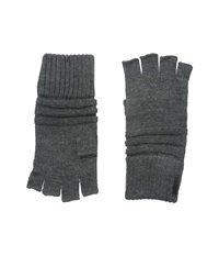 Calvin Klein Horizontal Rib Fingerless Glove Charcoal Grey Extreme Cold Weather Gloves Gray