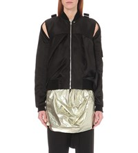 Rick Owens Buckle Detail Satin Jacket S 09