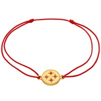 Zabel Bracelet Naima String Red Ruby Mg Gold