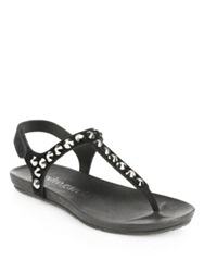 Pedro Garcia Studded Suede Thong Sandals Brown
