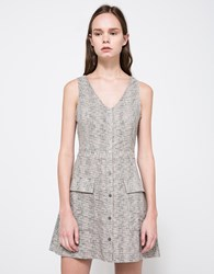 Farrow Camilla Linen Dress Grey