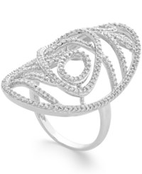 Macy's Diamond Open Oval Large Ring 3 4 Ct. T.W. In 14K Gold Or White Gold