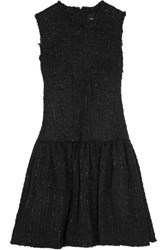 Simone Rocha Frayed Boucle Tweed Mini Dress Black