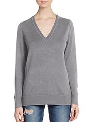 Rag And Bone Merino Wool V Neck Sweater Grey