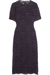 Iris And Ink Luciana Guipure Lace Dress Purple