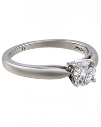 Lc Estate Jewelry Collection Estate Van Cleef And Arpels Platinum And Diamond Solitaire Ring