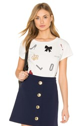 Love Moschino Heart Peace Tee White