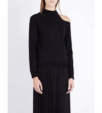 Osman Cutout Shoulder Wool Jumper Black