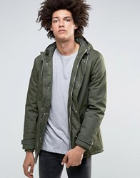 Minimum Carlow Hooded Parka Quilted Lining Dark Green