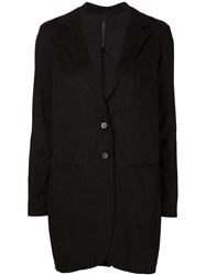 Transit Mid Length Buttoned Coat Black