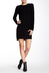 Magaschoni Long Sleeve Cashmere Sweater Dress Black