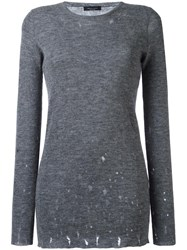 Roberto Collina Round Neck Jumper Grey
