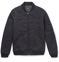 A.P.C. Padded Cotton Blend Twill Bomber Jacket Blue