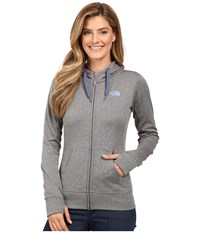The North Face Fave Full Zip Hoodie Tnf Medium Grey Heather Coastal Fjord Blue Women's Sweatshirt Gray