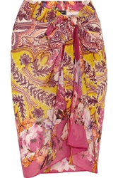 Etro Printed Cotton And Silk Blend Pareo