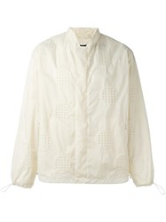 Craig Green Perforated Bomber Jacket Nude Neutrals