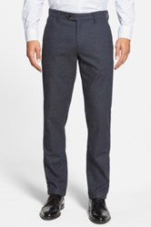 Ted Baker 'Lommy' Classic Fit Brushed Cotton Trousers Blue