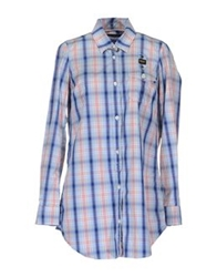 Blauer Long Sleeve Shirts Blue