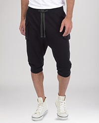 2Xist 2 X Ist Cargo Pocket Capri Sweatpants Black