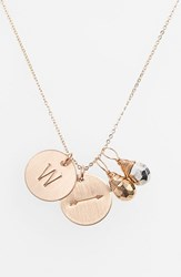 Women's Nashelle Pyrite Initial And Arrow 14K Gold Fill Disc Necklace Gold Pyrite Silver Pyrite W